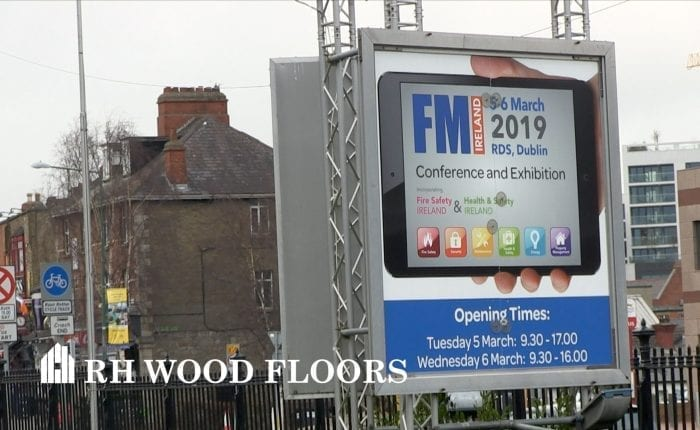 RH wood floors at the FM Show in the RDS